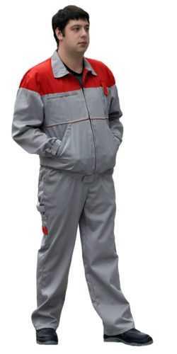 «Рейнир» серый красный 1 250x500 - Костюм Рейн курт+пк., (серый/красный)