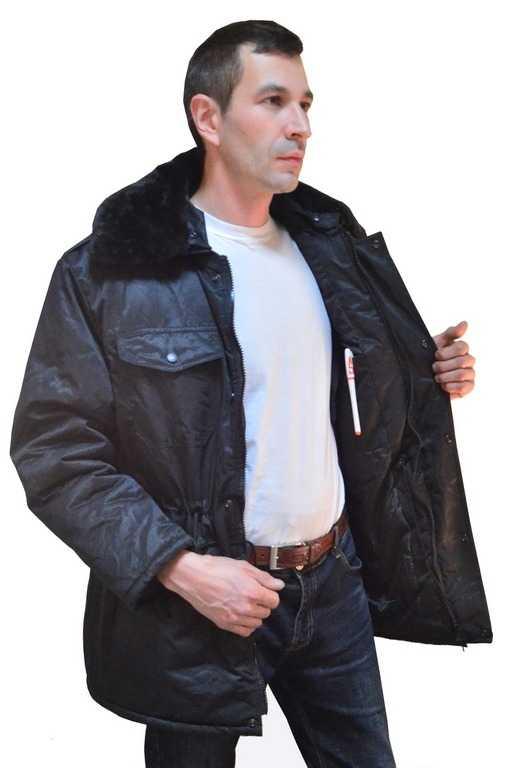 1 22 - Куртка зимняя для Охранника (черная)