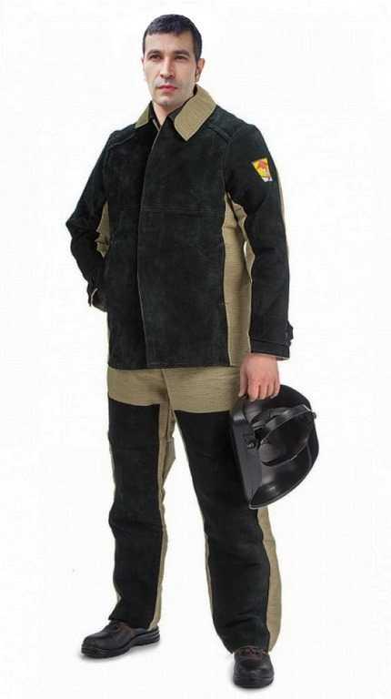 4 16 - Сварщик костюм мужской ( Брезент+спилок )