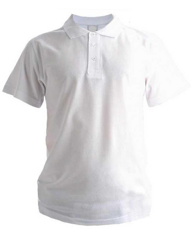 .jpg - Рубашка Поло с коротким рукавом белая