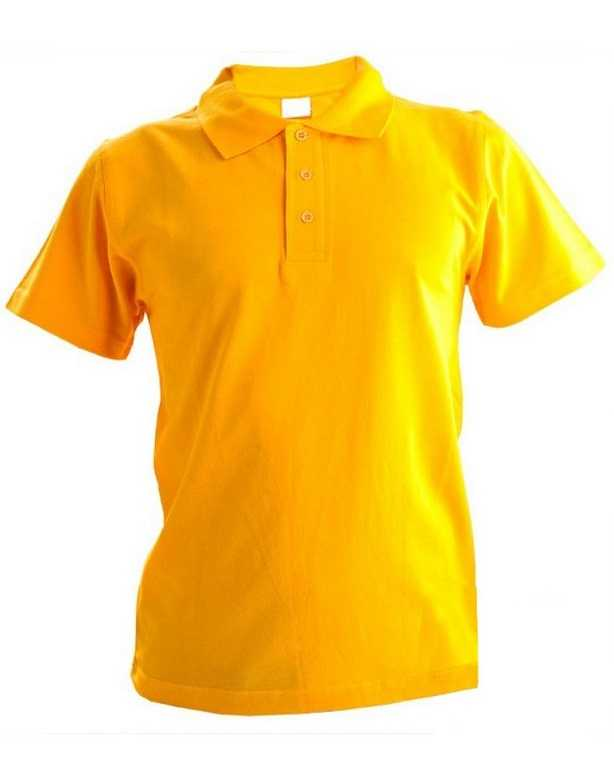 1 - Рубашка Поло с коротким рукавом желтая