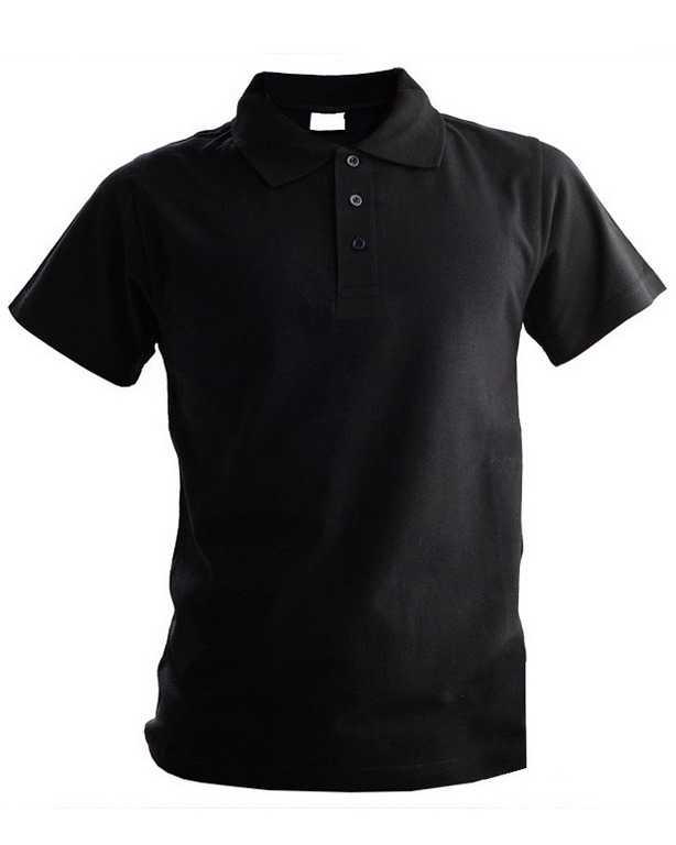 1 - Рубашка Поло с коротким рукавом черная
