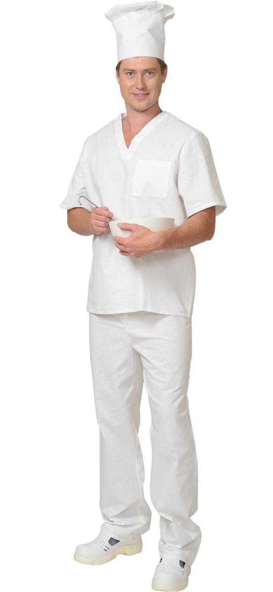 02357 - Костюм пекарь бязь ГОСТ, белый