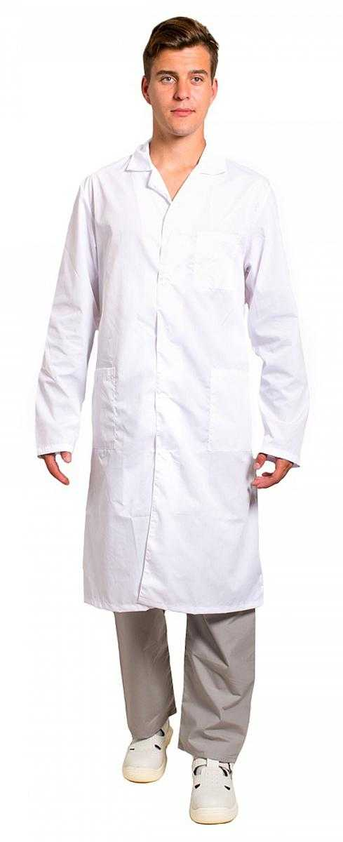b48d0e550b43b7c3eadab407a41cfcab - Халат медицинский мужской бязь ГОСТ, белый