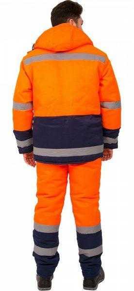 i   i i  276x600 - Костюм зимний Дорожник (тк.Смесовая,210) брюки, оранжевый/т.синий