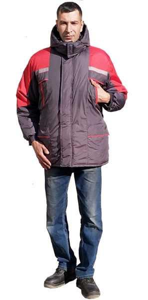 1 297x600 - Куртка Протект ( серая с красным )