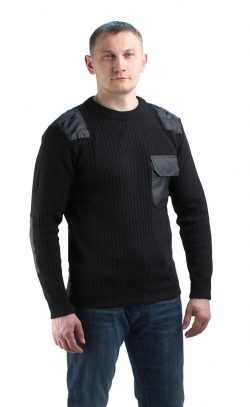6febb027eebeeaa796f146b759f88d09 250x407 - Джемпер форменный черный с накладками
