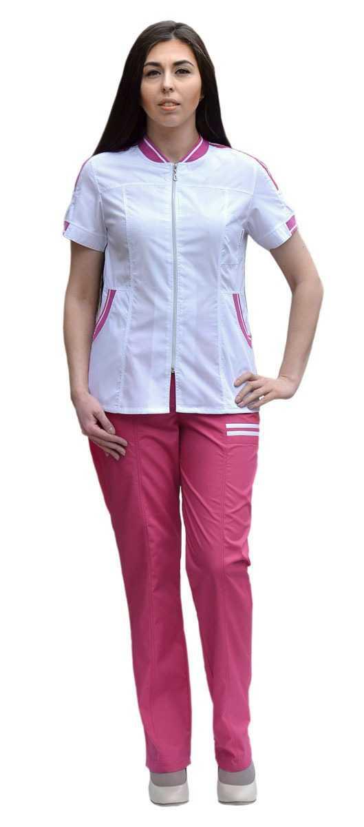 DSC 0007 - Костюм медицинский женский Бьюти, лиловый/белый