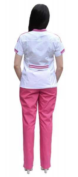 DSC 0008 265x600 - Костюм медицинский женский Бьюти, лиловый/белый