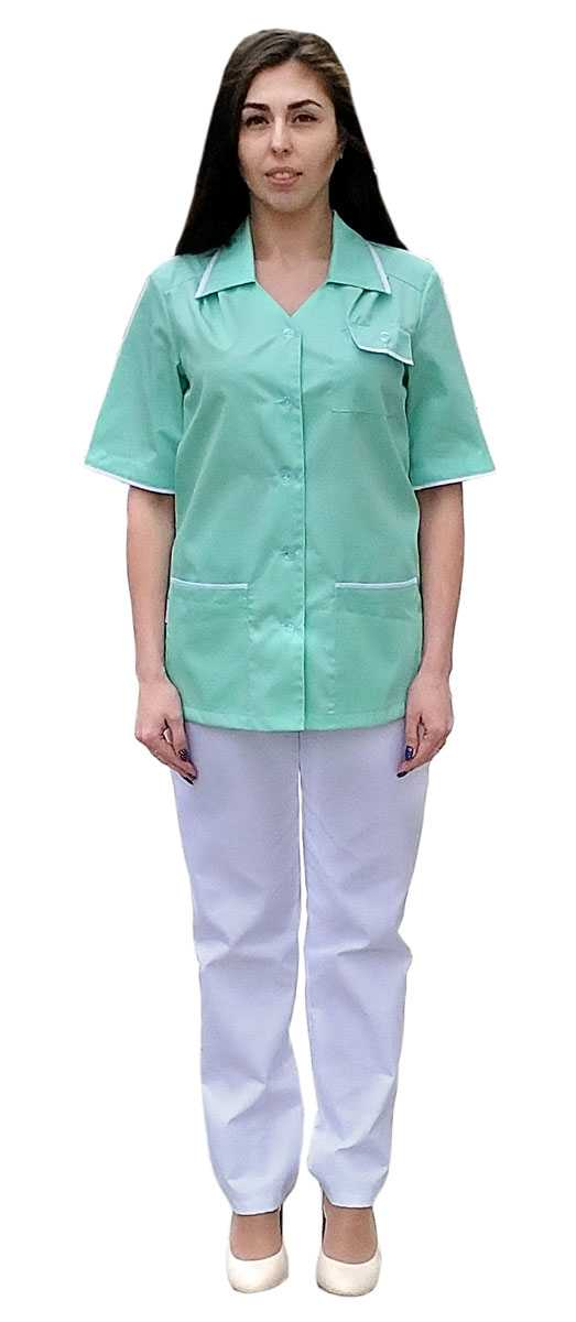 IMG 20190305 132445 - Куртка-блузка Эрика салатовая