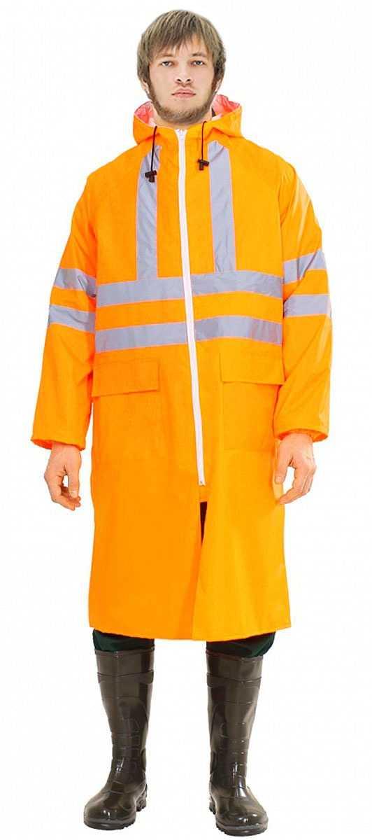 1 - Плащ влагозащитный Неон оранжевый