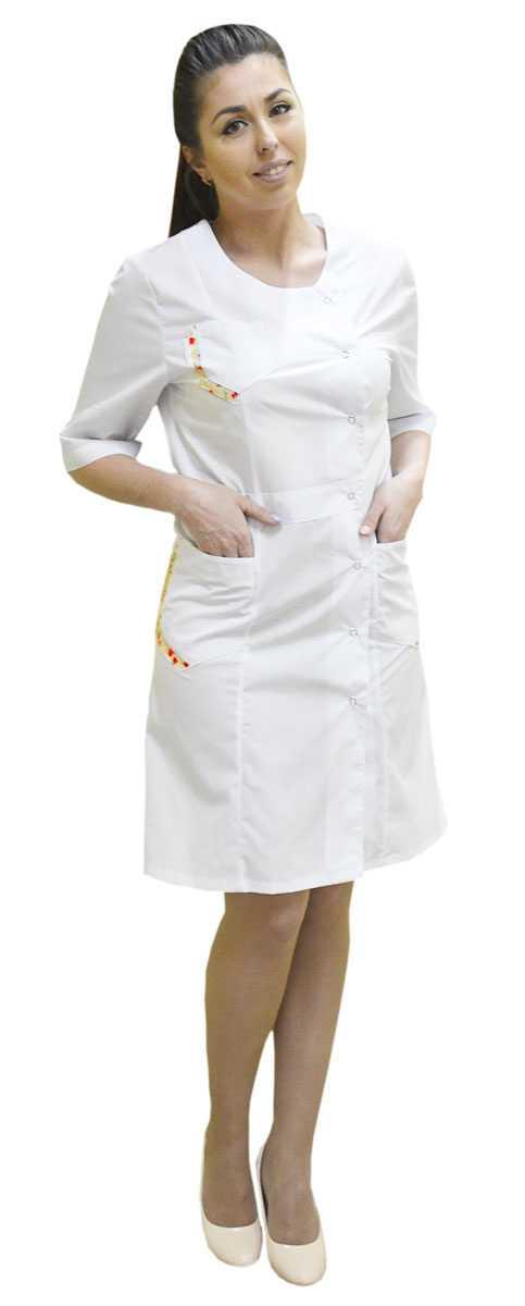 DSC 0007 1 - Халат медицинский женский Интер , прованс