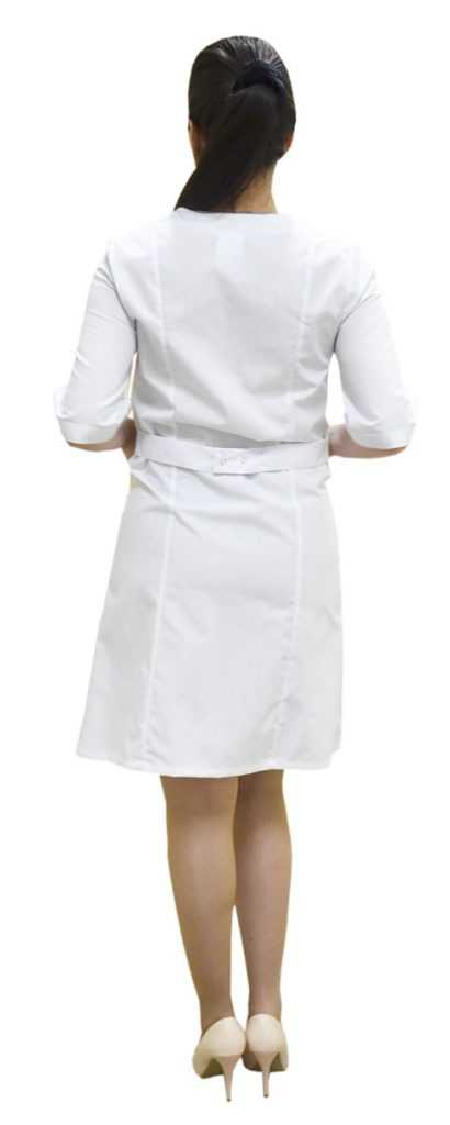DSC 0008 410x1024 - Халат медицинский женский Интер , прованс