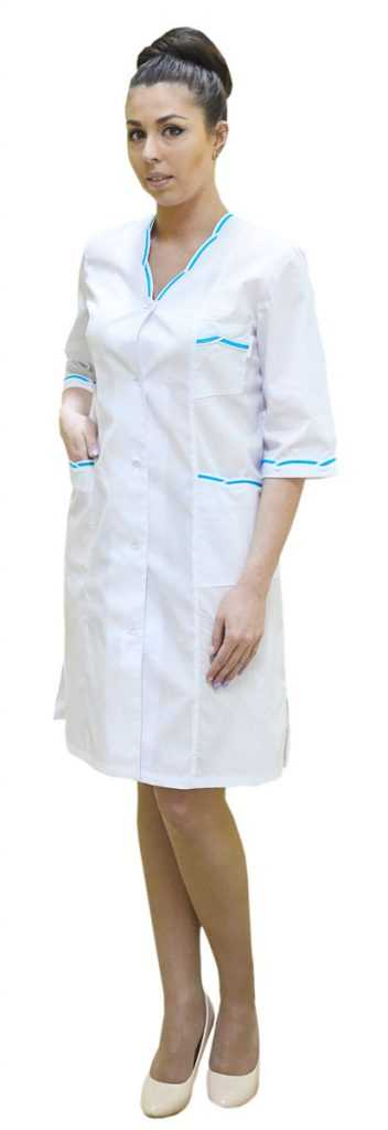 DSC 0098 352x1024 - Халат медицинский женский Лагуна,бирюза