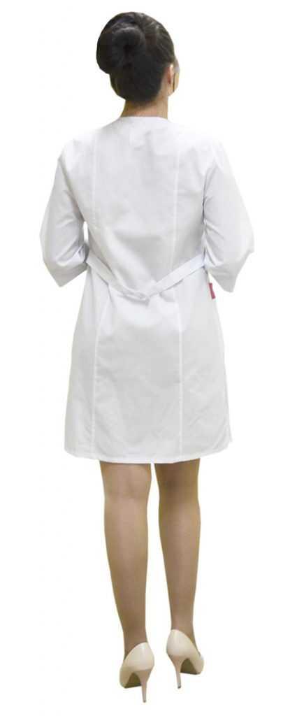 DSC 0112 425x1024 - Халат медицинский женский Жемчуг, лиловый