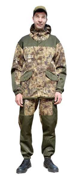"DSC 0204 1 257x600 - Костюм ""ГОРКА-ГОРЕЦ"" куртка/брюки, цвет: кмф ""Питон коричневый""/т.хаки, ткань: Грета"