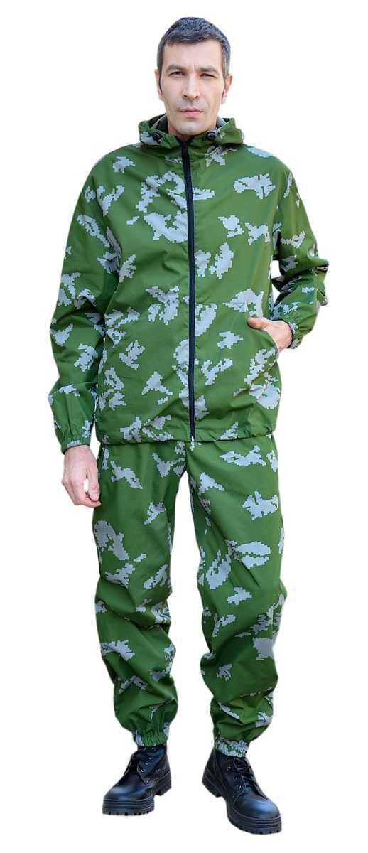 """DSC 0285 - Костюм """"МАСКХАЛАТ"""" куртка/брюки, цвет: кмф """"Граница зеленый"""", ткань: Сорочечная"""