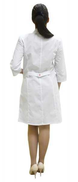DSC 1000 259x600 - Халат женский медицинский Сабрина , белый/красный