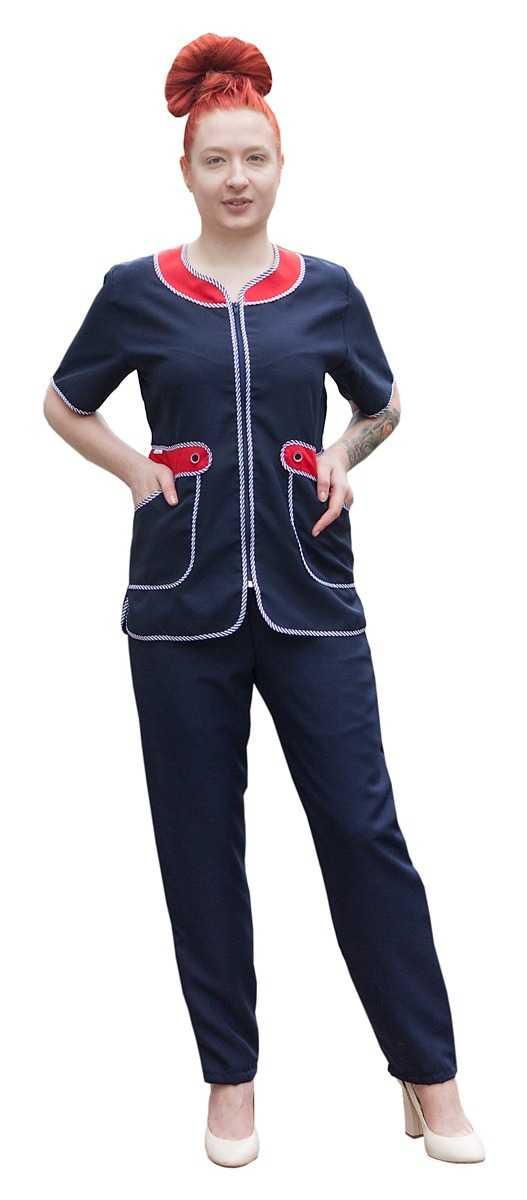 IMG 6738 - Костюм женский Модница, синий/красный