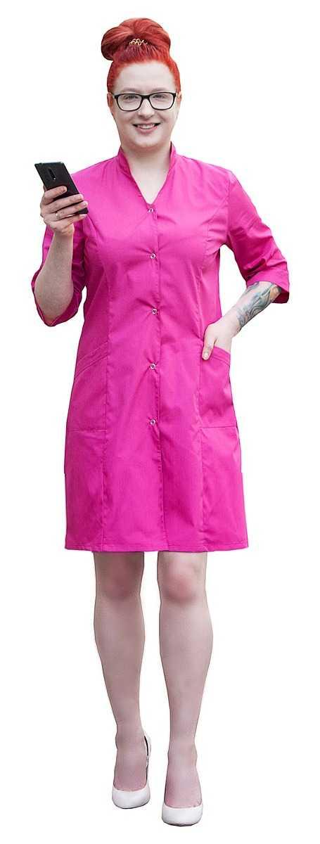 MG 5825 2 1 - Халат медицинский женский Грация , фуксия