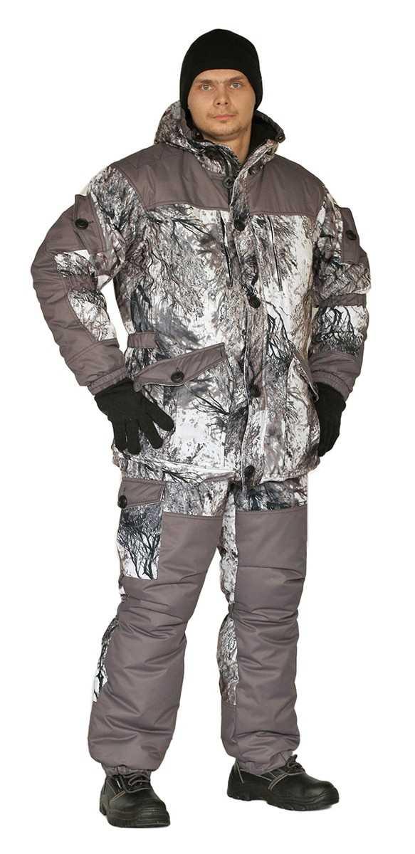 "2d9fccc1a6225382d496b8b379246c30 - Костюм зимний ""Nordwig Donbass"" куртка/брюки, цвет: кмф ""иней"", ткань: Алова/Таслан"