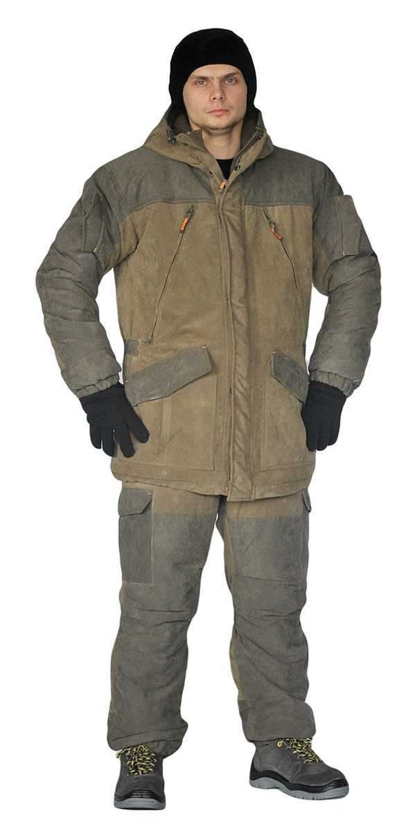 63e72a76843d1e17f2892965b9c77cf9 - Костюм зимний «ГЕРКОН» куртка/брюки, цвет: св.хаки/т.хаки, ткань: Финляндия