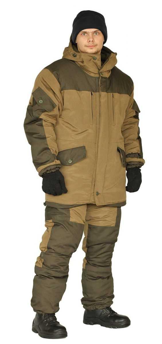 "7ad97b770ffa5f1d75d217447589fafc - Костюм зимний ""ГОРКА"" куртка/брюки, цвет: св.хаки/т.хаки, ткань: Полибрезент/Полибрезент"