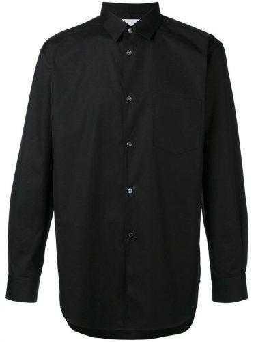 сорочка черная с длинным рукавом