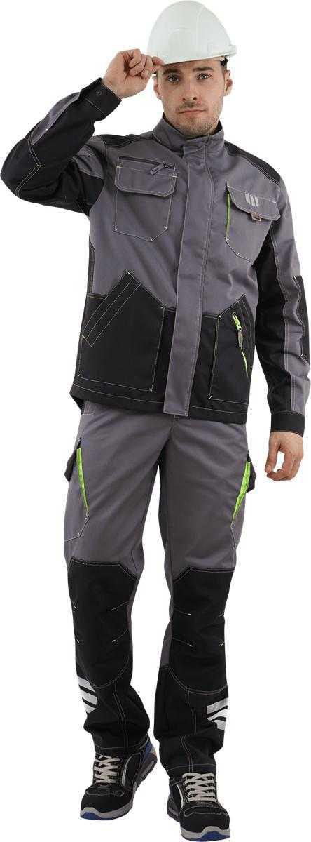 DSC06245 - Куртка ЭДВАНС, (серый-т.серый-черный)
