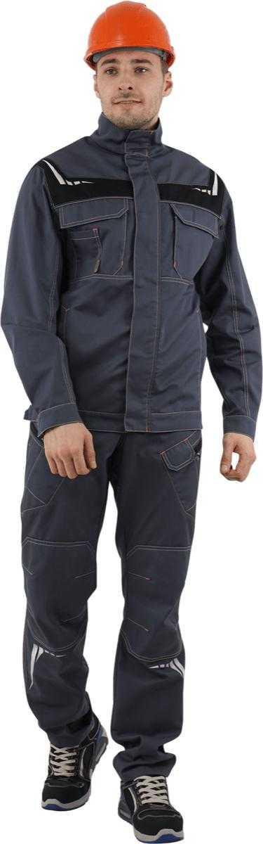 DSC06452 - Куртка ПЕРФЕКТ, (серый/черный)