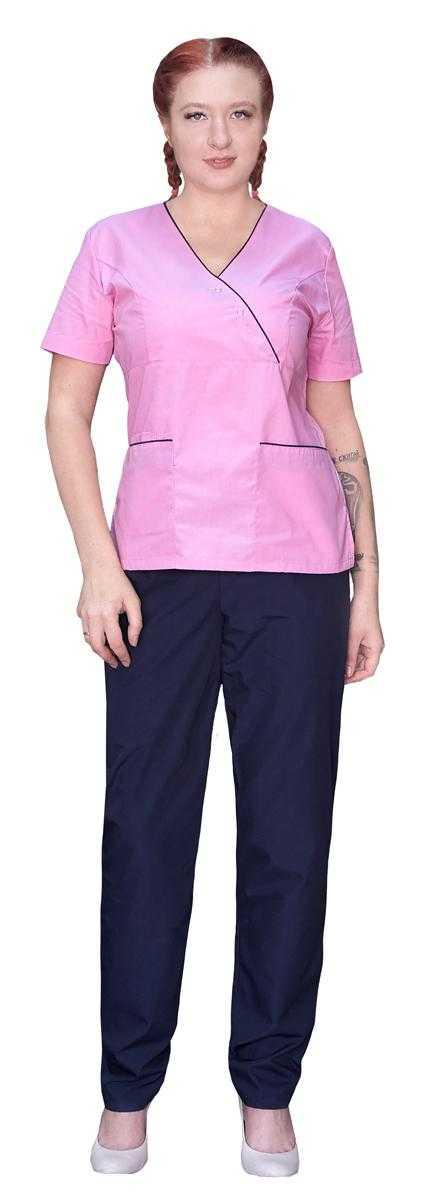 IMG 7846 1 - Костюм медицинский женский Шоколадница , розовый/синий