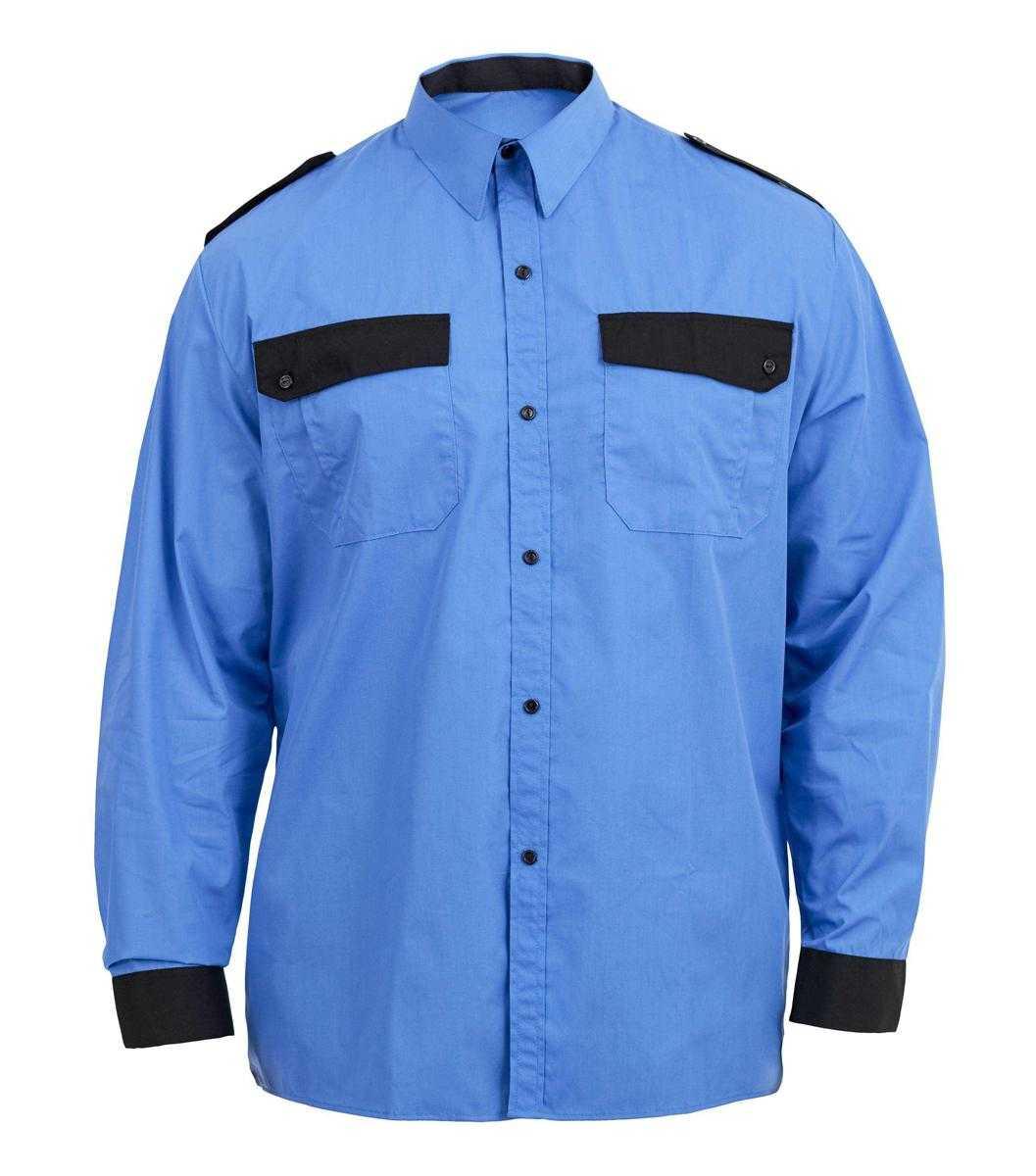Img0129 1 - Рубашка охранника с длинным рукавом, цв. голубой