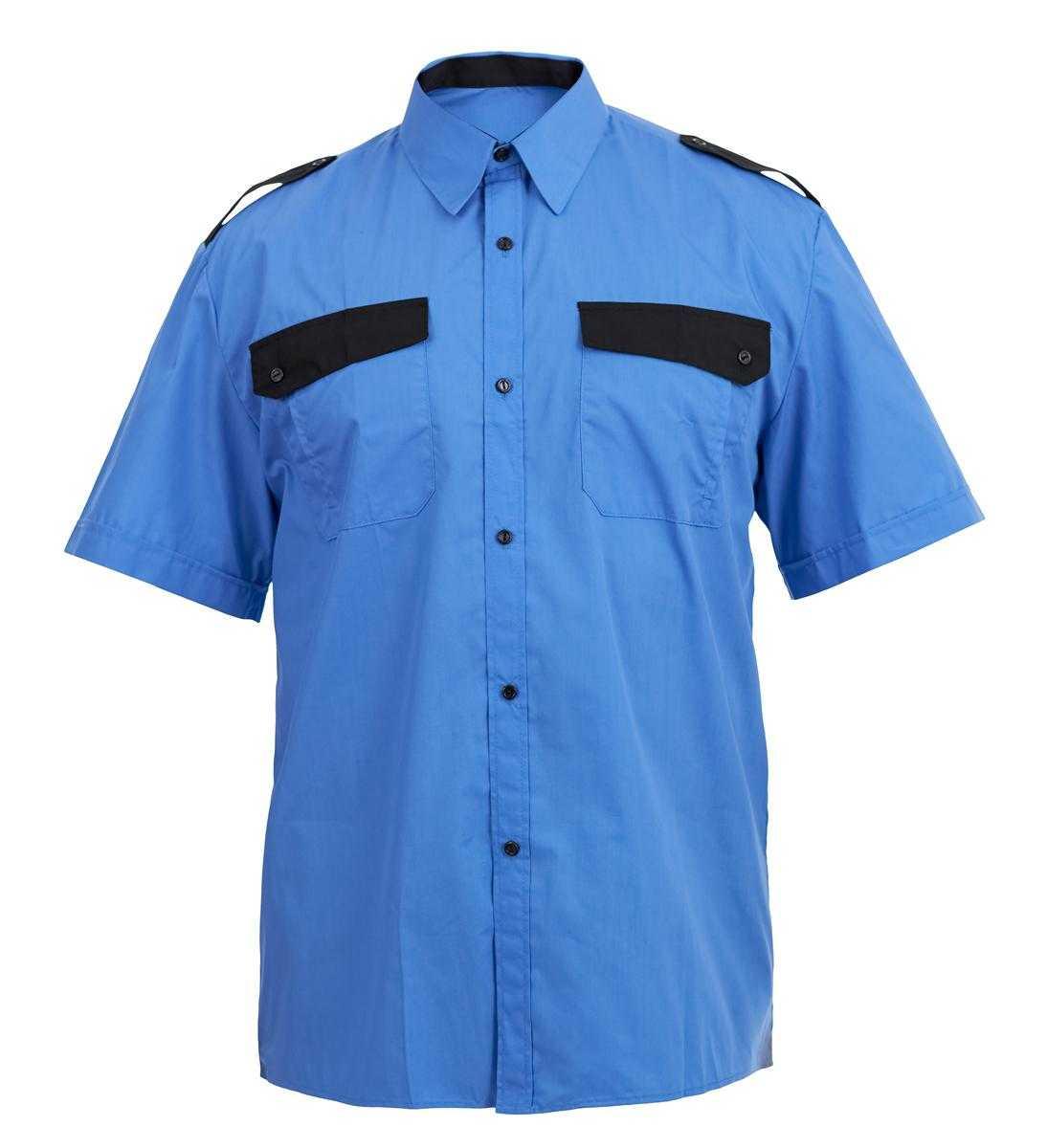 Img013444 - Рубашка охранника с коротким рукавом, цв. голубой