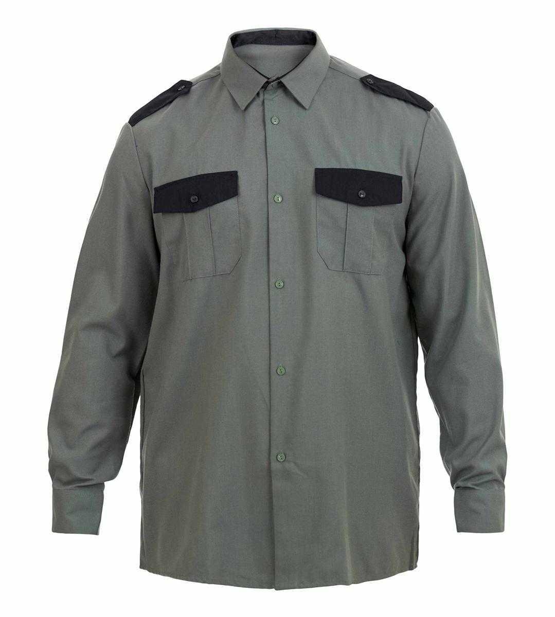 Img0135 - Рубашка охранника с длинным рукавом, цв. зеленый