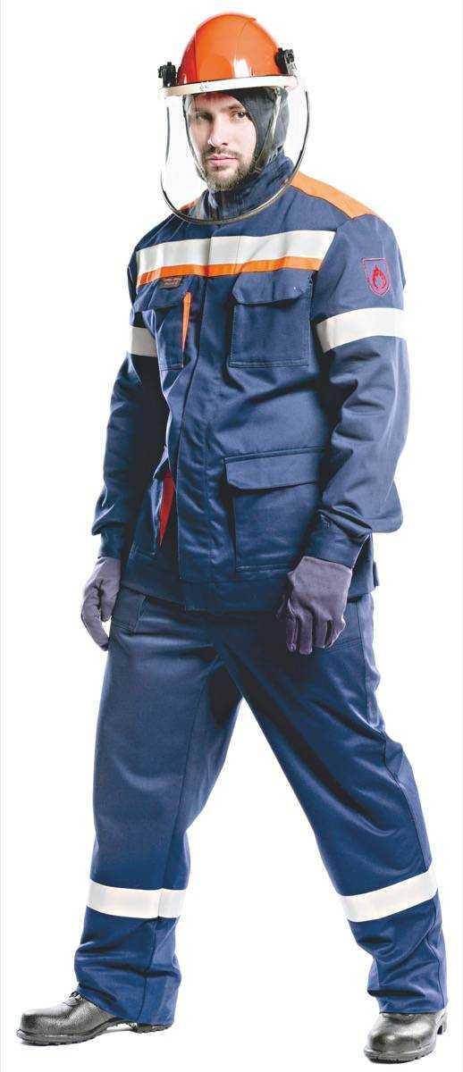 02 ЛIV  - Костюм 31 кал/см2 из огнезащитной ткани WORKER (куртка/брюки)