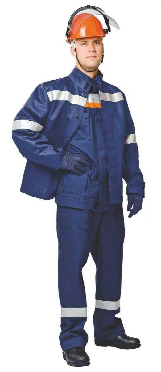 04 ЛVII  1 - Костюм 51 кал/см2 из огнезащитной ткани WORKER с термобельём и курткой - накидкой (куртка/брюки)