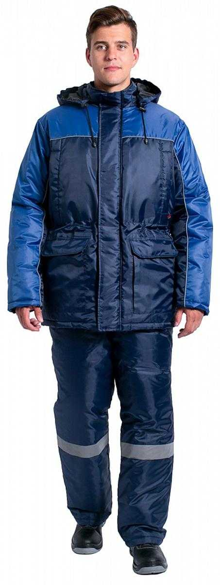 4c80689019e2e36adedc924d68c0379c - Куртка зимняя для инженера NEW (тк.Оксфорд), т.синий/васильковый
