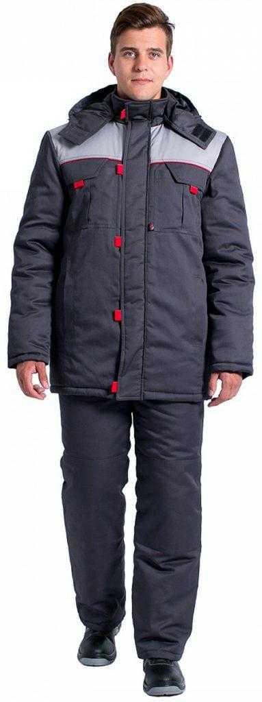 4fcf6e625ed899af555b1ba0d07ee4de 383x1024 - Куртка зимняя Фаворит NEW (тк.Балтекс,210), т.серый/серый