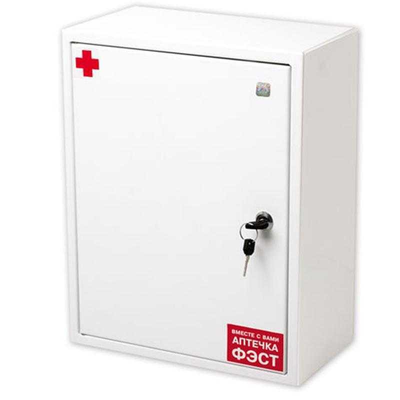 dccd7df172718fabdf259588f876aab6 - Аптечка ФЭСТ офисная металлический шкаф 250х310х100 №5.3 ( на 30 человек)