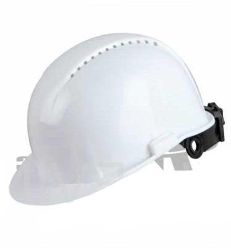 image 1350 - Каска защитная с храповым механизмом Юнона (текс. оголовье) белая
