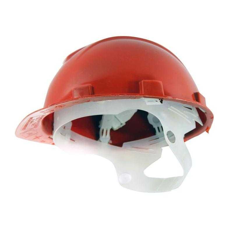 tdfort 1 - Каска защитная пластиковое оголовье Юнона(красный)