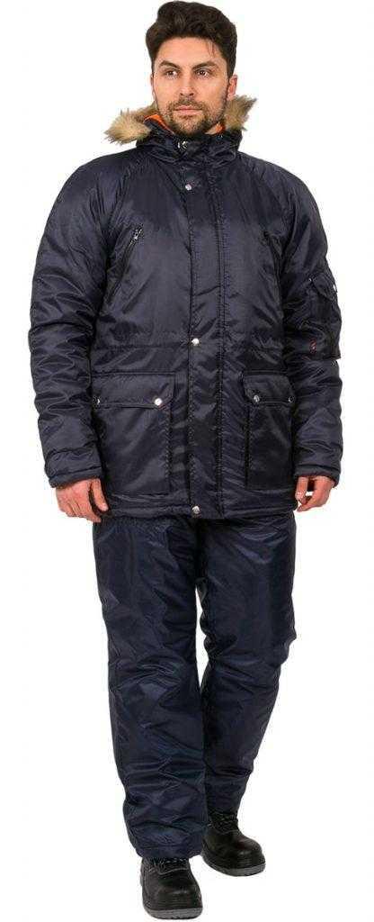 416x1024 - Куртка зимняя Аляска (тк.Оксфорд), т.синий