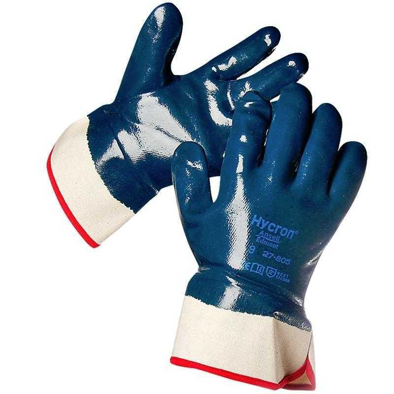 .jpg - Перчатки-краги Ansell Hycron® 27-805 (Хайкрон) с полным нитриловым покрытием