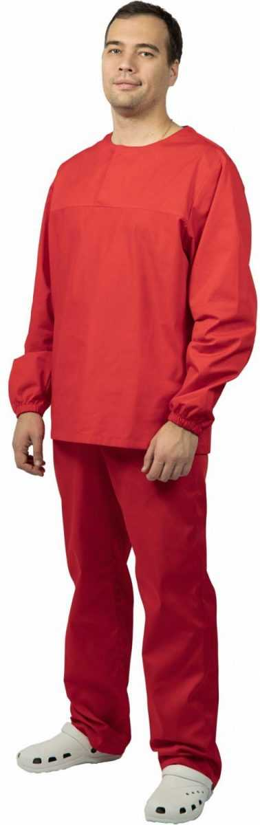 12 - Костюм мужской ХАССП-Стандарт (тк.Оптима,160), красный