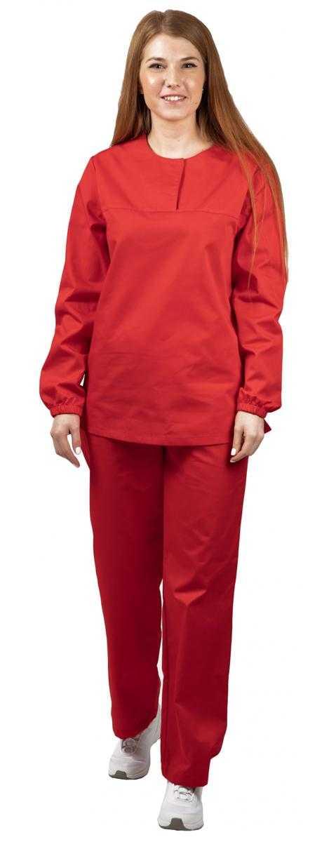 9 - Костюм женский ХАССП-Стандарт (тк.Оптима,160), красный