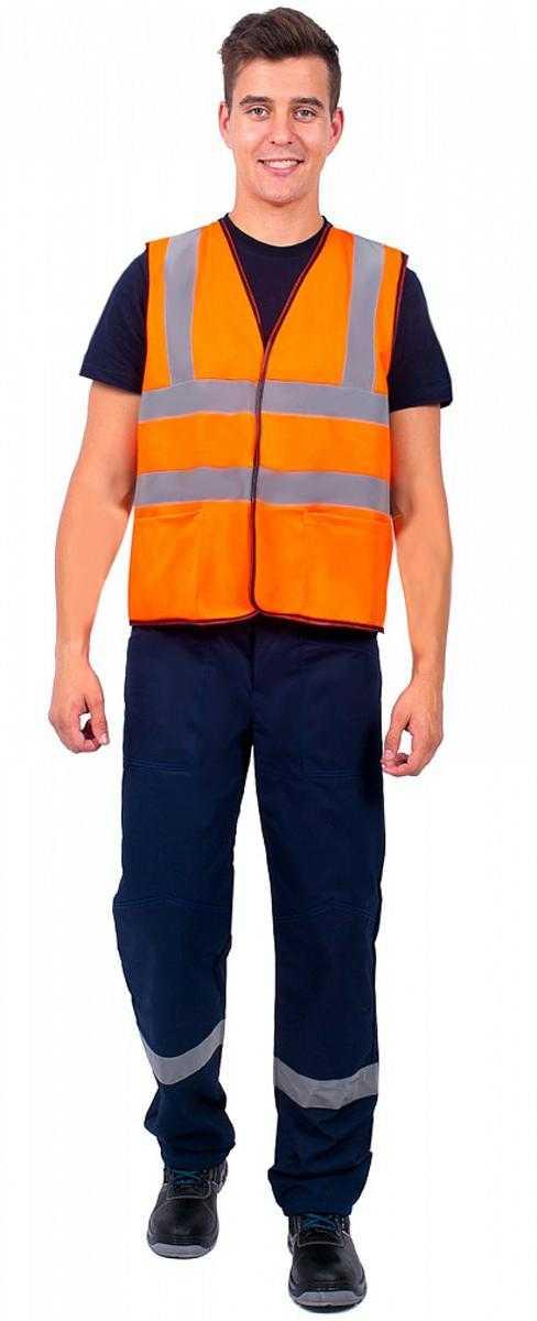 i   i  22 - Жилет сигнальный с карманами СОП-4 (тк.Полиэфир,130), оранжевый