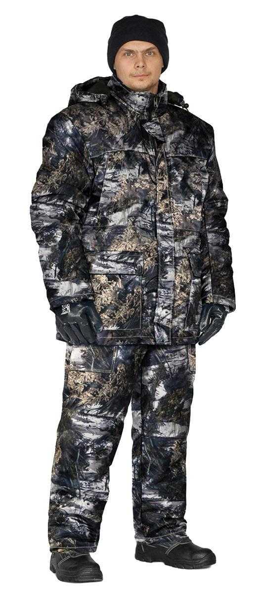 "i   i  39 - Костюм зимний ""СКАНДИН"" куртка/полукомб. цвет: кмф ""Серый мох"", ткань: Алова"