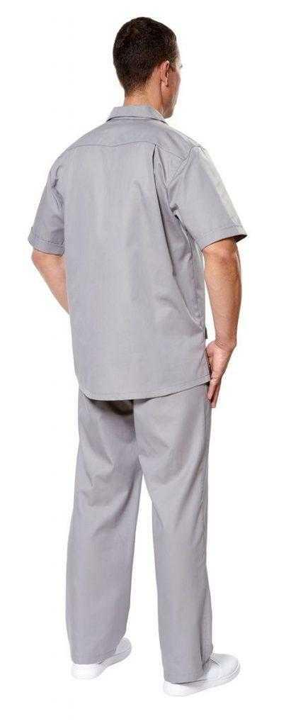 Крокус серый муж спина 411x1024 - Куртка Крокус 2 мужская , серый