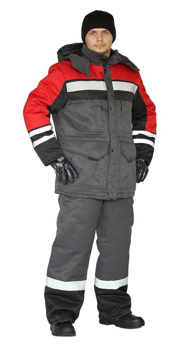 34569f1c844f39869c451714a02addd4 - Костюм зимний ЗИМНИК курткабрюки, цвет т.серый/черный/красный