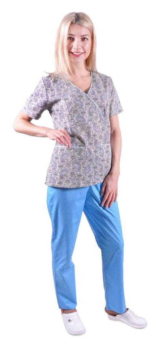DSC 7634 - Блуза медицинская Мальвина ,расцветка огурцы